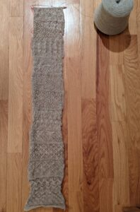Knit lace sampler, patterns 1 through 12